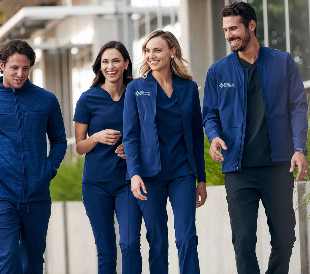Scrubs, Scrub Jackets with Embroidery Uniforms by Infectious.com.au