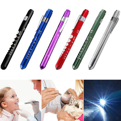 Medical LED Penlight with Pupil Gauge Measurements