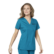 102 USC WonderWORK Womens Mock Wrap Nurses Scrub Top - Infectious Clothing Company