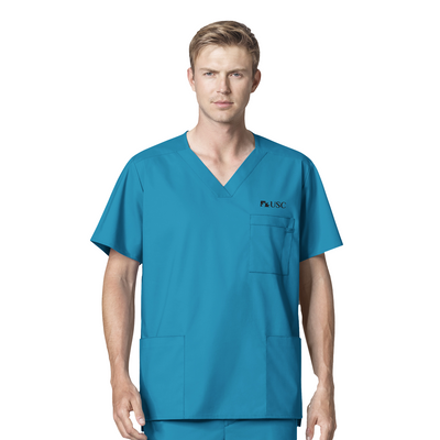 103 USC WonderWORK Mens Multi-Pocket Scrub Top - Infectious Clothing Company