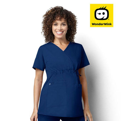 145 SAH Students WonderWORK Women's Maternity Fit Nurses Scrub Top - Infectious Clothing Company