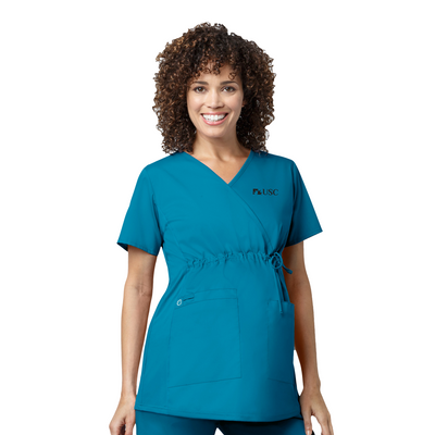 145 USC WonderWORK Womens Maternity Fit Nurses Scrub Top - Infectious Clothing Company
