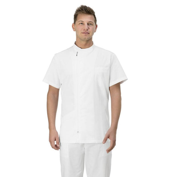 Giblor's Ruggero Mens Short Sleeve Zip Close Tunic