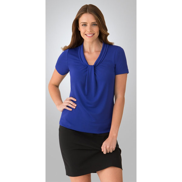 2222 Pippa Knit S-S Top from City Collection - Infectious Clothing Company