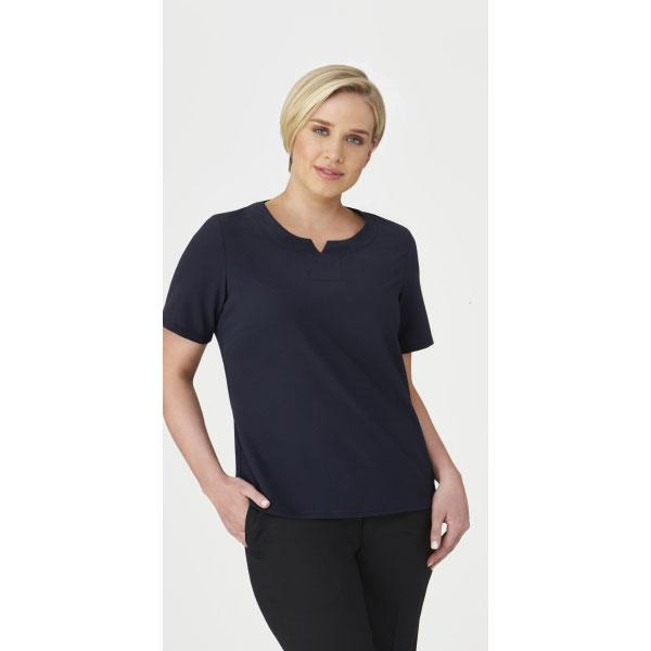 2299 Knit Woven Top from City Collection