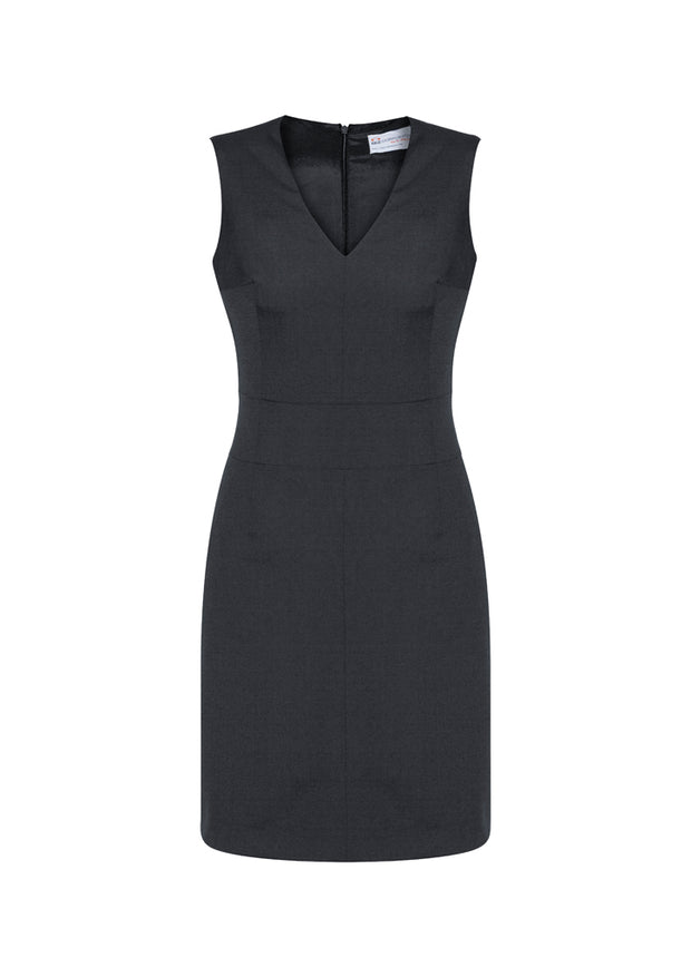 30121 Biz Corporates Womens Sleeveless V Neck Dress