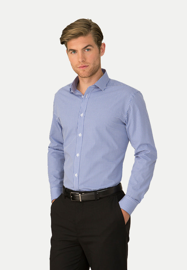 4263 City Collection Mens So Ezy Long Sleeve Shirt