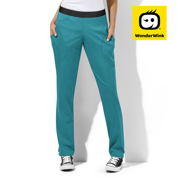 5113 WonderTECH Womens Straight Leg Stretch Scrubs Pant - Infectious Clothing Company