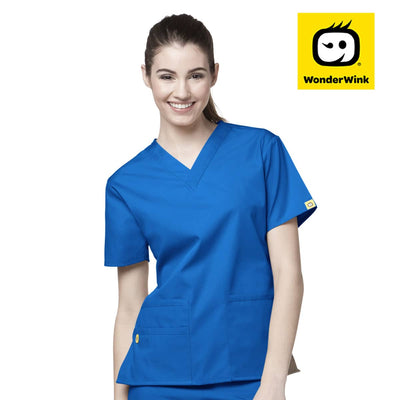 6016 WonderWink Bravo 5 Pocket V-neck Women's Scrubs Top