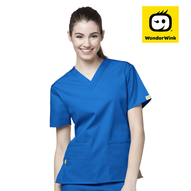 6016 Wonderwink bravo 5 pocket v-neck women's scrubs top - Infectious Clothing Company
