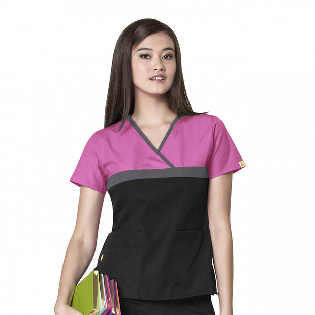 6026CA WonderWink Tri-Charlie Women's Fashion Scrubs Top - Infectious Clothing Company