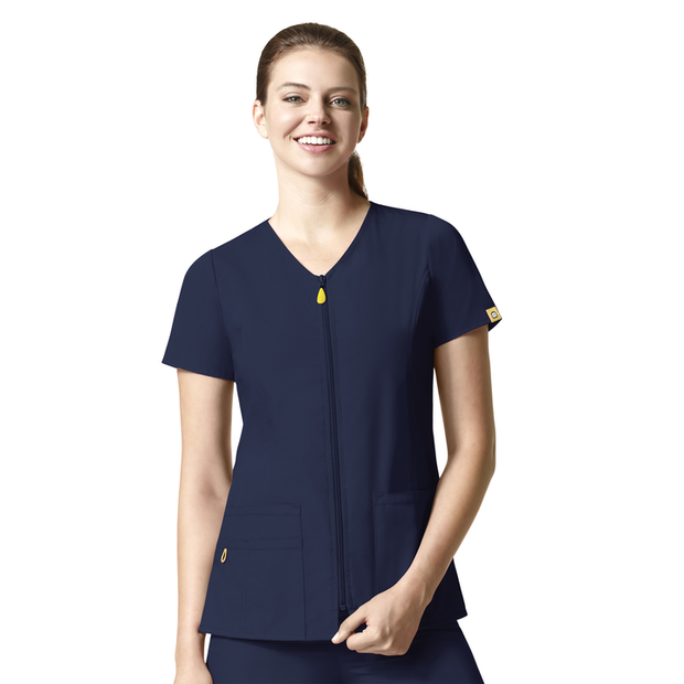 6086 WonderWink Origins The Kilo Women's Zip Up Scrubs Top - Infectious Clothing Company