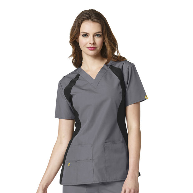 "6096 WonderWink ""The Lima"" Womens Panel Fashion Scrub Top - Infectious Clothing Company"