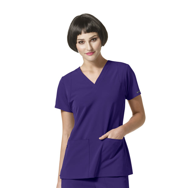 "6112 ""Sync"" WonderWink HP Performance V-Neck Scrubs Top - Infectious Clothing Company"