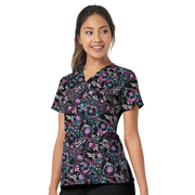 6178 Colour of the Wind WonderWink Women's Stretch Print Scrub Top