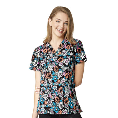 6178 Mosaic Bloom Women's Printed V-Neck Top - Infectious Clothing Company