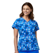 6257 WonderWink Homeward Bound Women's Animal Print Scrub Top