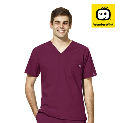6355 WonderWink W123 Mens V-Neck Top - Infectious Clothing Company