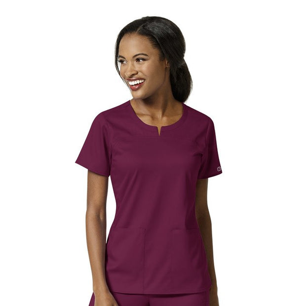 6419 WonderWink PRO Women's 4 Pocket Notch Neck Top