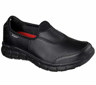 76536 Skechers Sure Track Slip On Womens Work Shoes