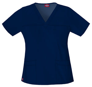 817455 Dickies Women's Gen Flex V-neck Scrub Top - Infectious Clothing Company