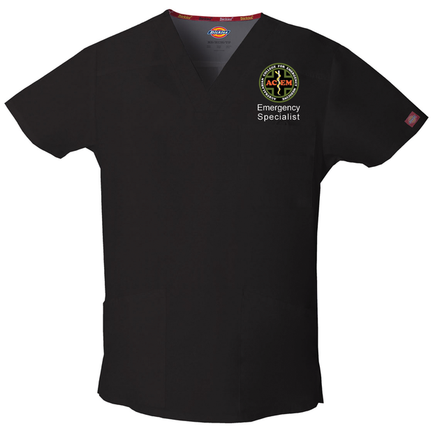 81906 St George ACEM Dickies EDS Signature Men's V-neck Utility Scrub Top - Infectious Clothing Company