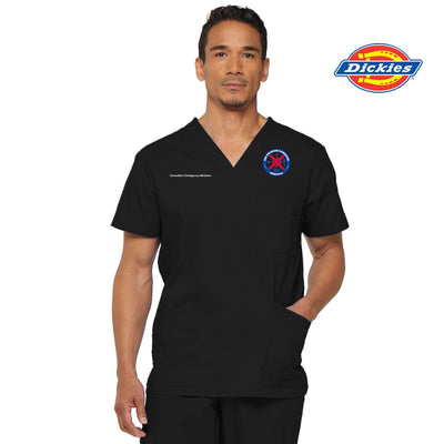 81906 SCGH Emergency Dickies EDS Signature Men's V-neck Utility Scrub Top - Infectious Clothing Company