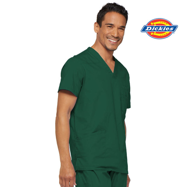 81906 RNSH Emergency Dickies EDS Signature Men's V-neck Utility Scrub Top - Infectious Clothing Company