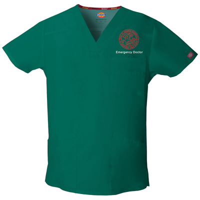 81906 St George Emergency Dickies EDS Signature Men's V-neck Utility Scrub Top - Infectious Clothing Company