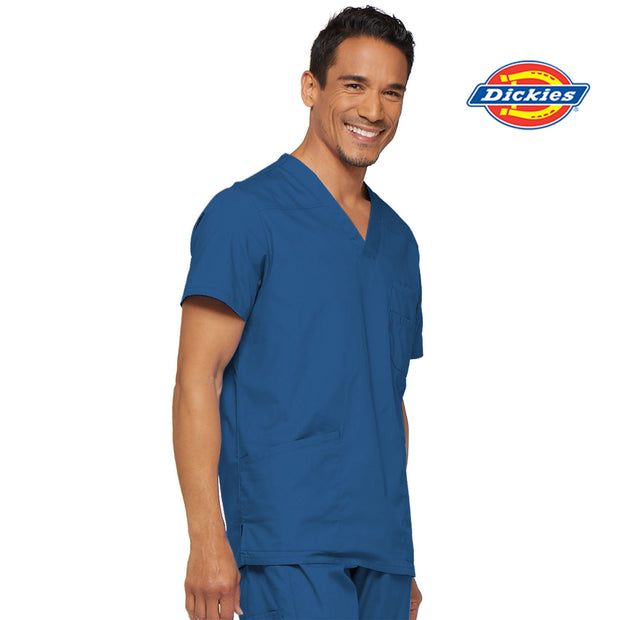 81906 Dickies EDS Signature Men's V-neck Utility Scrub Top - Infectious Clothing Company
