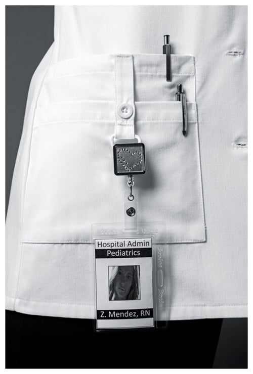 "82402 Dickies 30"" Women's White Lab Coat 3/4 Sleeves - Infectious Clothing Company"