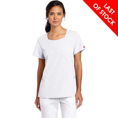 82814 Dickies Xtreme Stretch Women's Mock Wrap Top