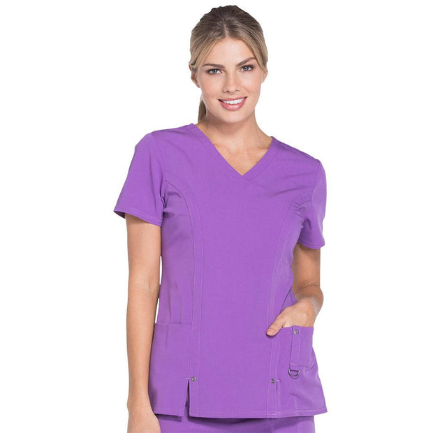 82851SP Dickies Xtreme Stretch Womens V-Neck Scrub Top - Infectious Clothing Company
