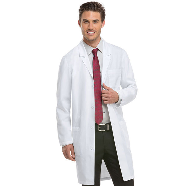 "83403 Dickies Unisex Professional White 40"" Lab Coat - Infectious Clothing Company"