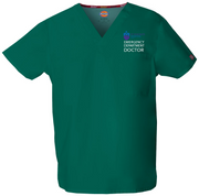 83706 St Vincents Emergency Dickies Unisex v-neck scrub top - Infectious Clothing Company