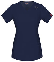 85948A Dickies EDS Women's Antimicrobial Stretch V-Neck Scrub Top - Infectious Clothing Company