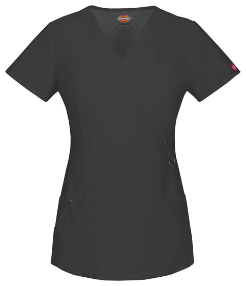 85956 Dickies Xtreme Stretch Women's Mock Wrap Top