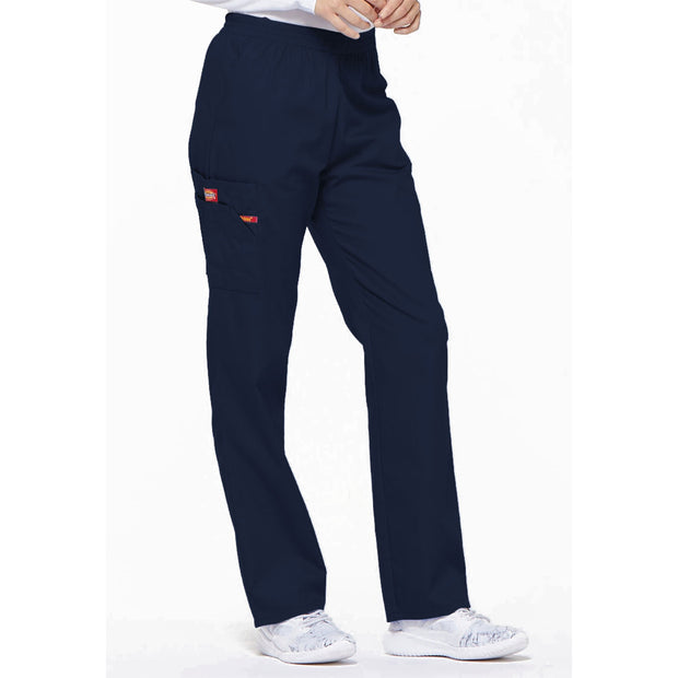 86106 Dickies EDS Women's Elastic Waist Cargo Scrubs Pant - Infectious Clothing Company