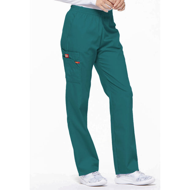 86106P Dickies EDS petite women's elastic waist cargo scrubs pant - Infectious Clothing Company