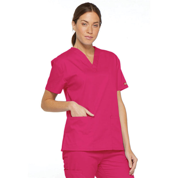 86706SP Dickies EDS Signature Classic Womens V-Neck Scrub Top - Infectious Clothing Company