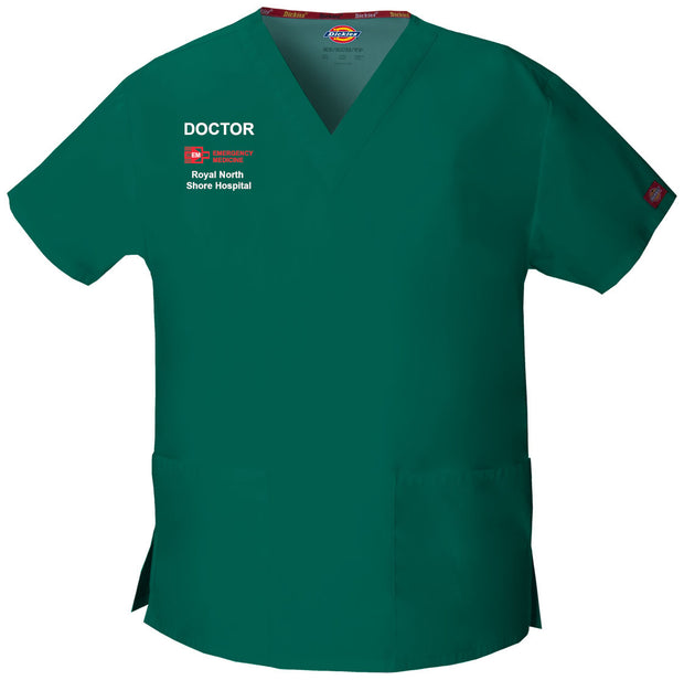 86706 RNSH Emergency Dickies Womens V-Neck Scrub Top