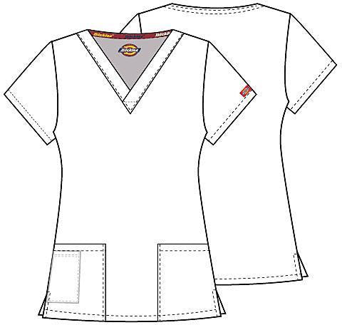 86706 St George Emergency Dickies EDS Signature Classic Womens V-Neck Scrub Top - Infectious Clothing Company