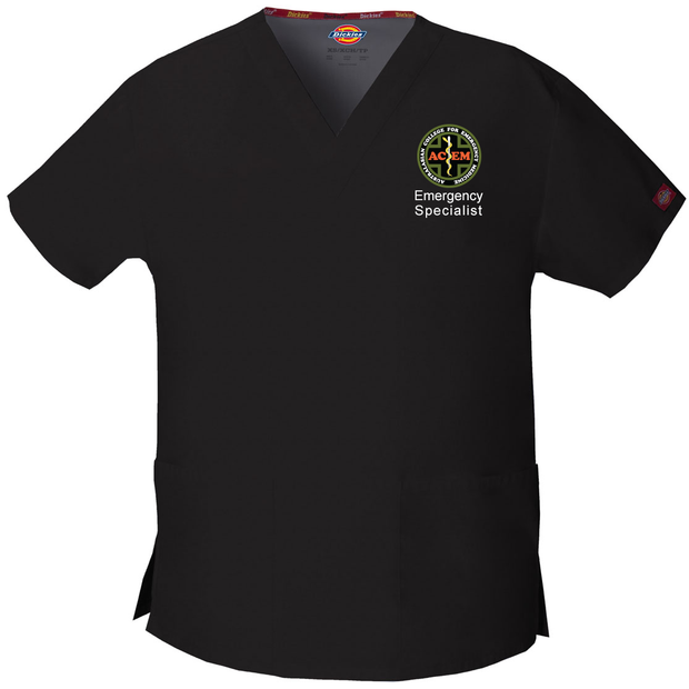 86706 St George ACEM Dickies EDS Signature Classic Womens V-Neck Scrub Top - Infectious Clothing Company