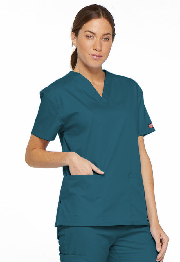86706 Dickies EDS Signature Classic Womens V-Neck Scrub Top - Infectious Clothing Company