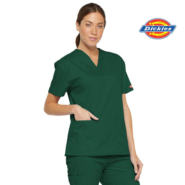 86706 RNSH Emergency Dickies Womens V-Neck Scrub Top - Infectious Clothing Company
