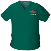 86706 Westmead Emergency Doctor Dickies EDS Signature Classic Womens V-Neck Scrub Top - Infectious Clothing Company