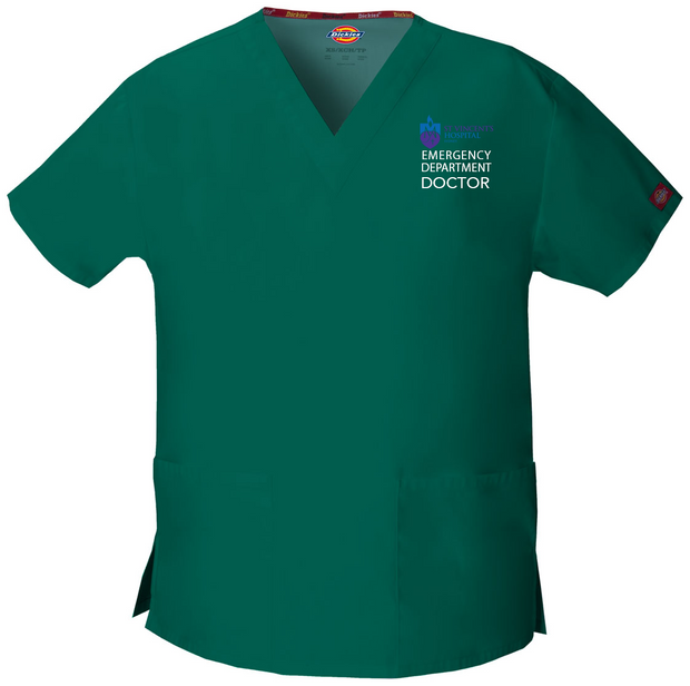 86706 St Vincents Emergency Dickies Dickies EDS Signature Classic Womens V-Neck Scrub Top - Infectious Clothing Company