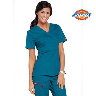 86806 Dickies EDS Signature Mock Wrap Womens Scrub Top - Infectious Clothing Company