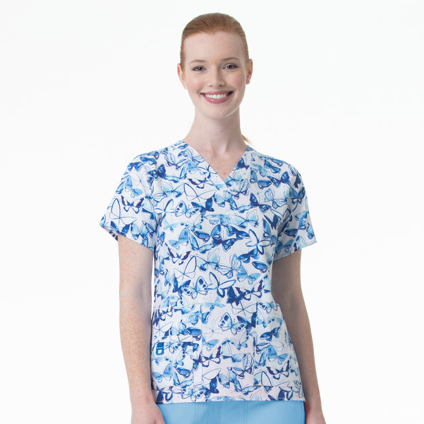 C12114 Carhartt Fly Free Women's Printed V-Neck Top