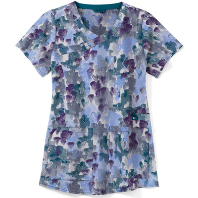 C12214 Carhartt Love and Care Print Scrub Top